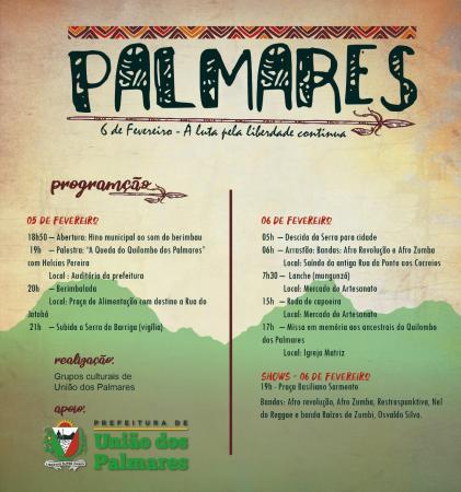 """Prefeitura de União dos Palmares realiza evento """"Palmares"""", que fará tributo aos heróis quilombolas."""
