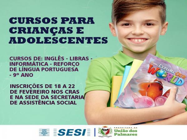 Prefeitura de União dos Palmares vai ofertar cursos extras para os jovens.