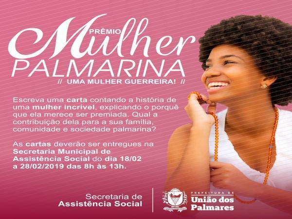 Prefeitura de União dos Palmares lança o Prêmio Mulher Palmarina