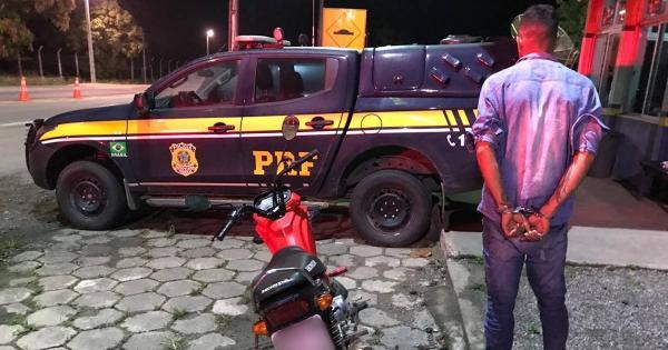 Roubou moto, foi preso, em União dos Palmares