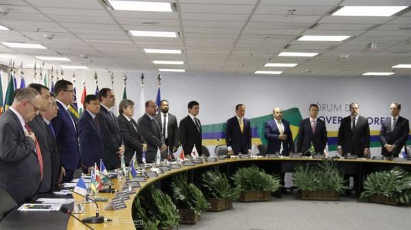 Governadores eleitos se reúnem com Moro e Tofoli, em Brasília.